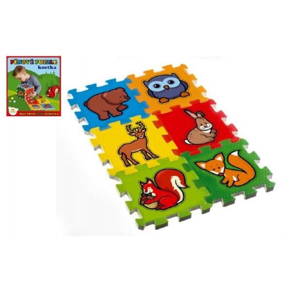 Penové puzzle Moja prvá lesné zvieratká 15x15x1,2cm 6ks MPZ
