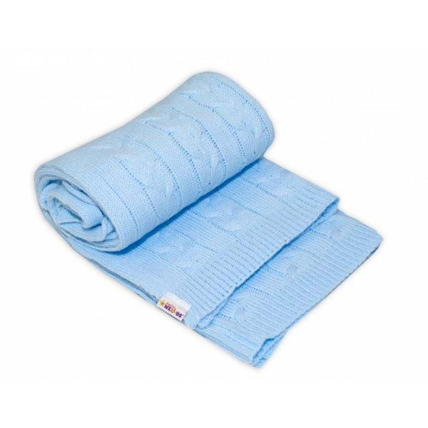 Detská akrylová deka, dečka Baby Nellys, 110 x 50 cm - sv. modrá