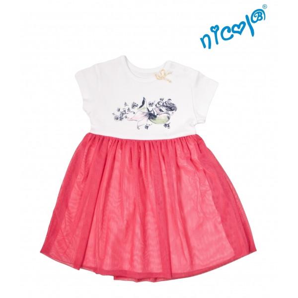 Dojčenské šaty Nicol, Morská víla - červeno/biele