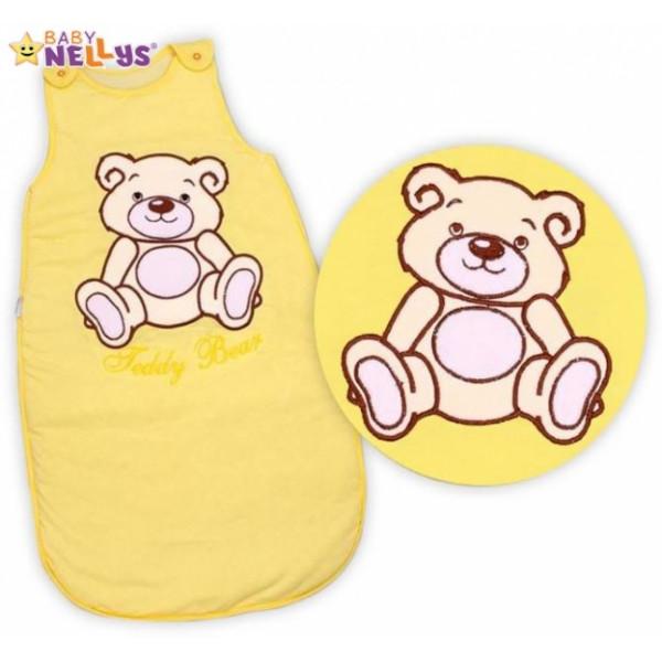 Spací vak Medvedík Teddy Baby Nellys - žltý / krémový vel. 0+