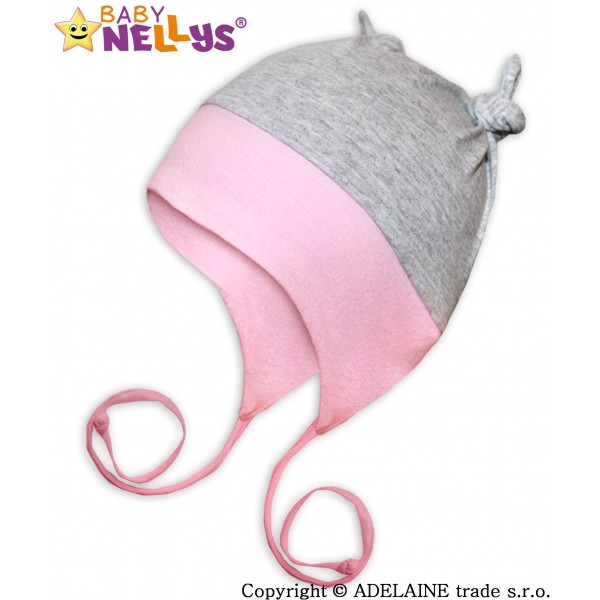 Bavlnená čiapočka Baby Nellys ® - Dva uzlíčky