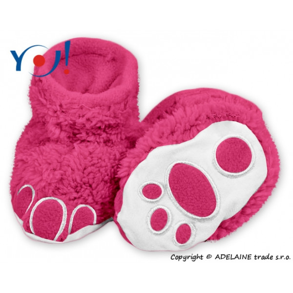 YO ! Topánočky / ponožtičky YO! MACKO - malina