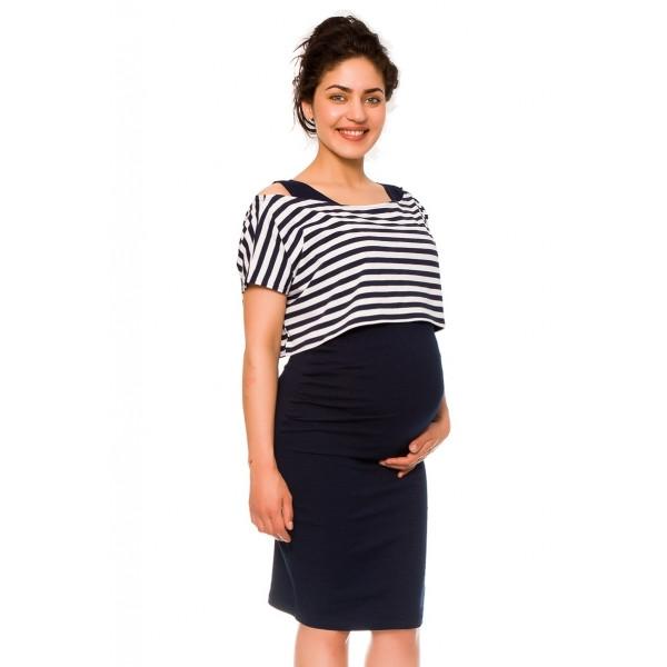 Be MaaMaa 2-dielne tehotenské/dojčiace šaty Sia - granát