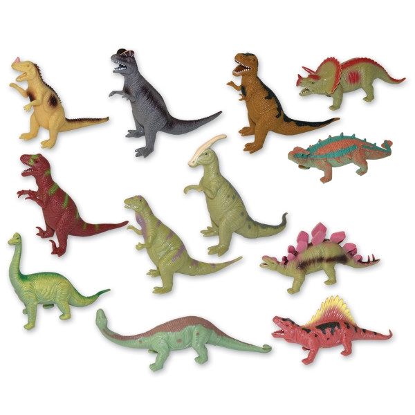 Rappa Dinosaurus 12 druhov, mäkké telo