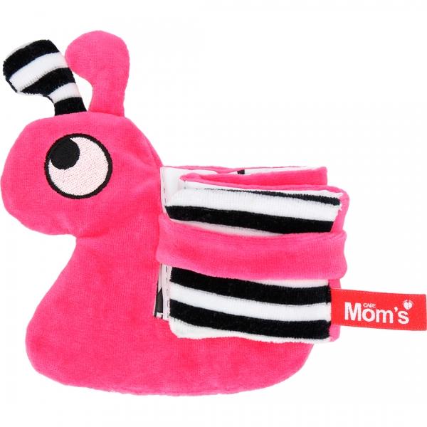 Hencz Toys Edukačná /textilné knižočka - slimák, růžová