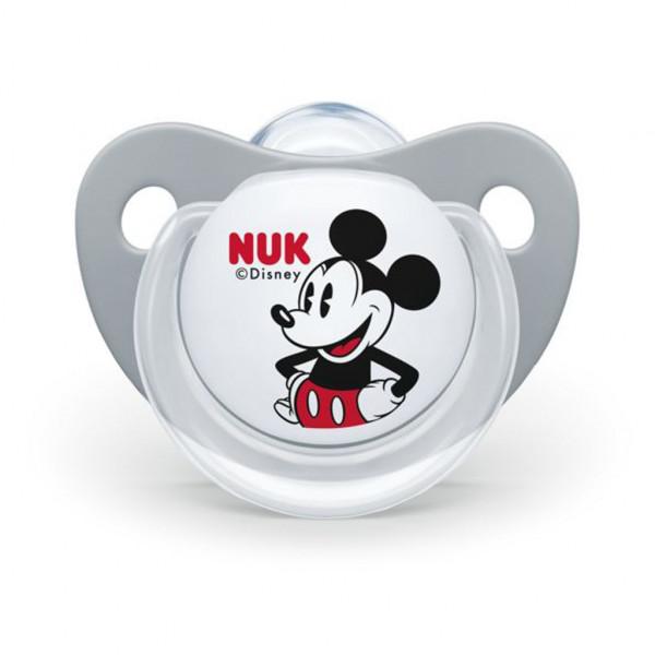 Cumlík Trendline NUK Disney Mickey Minnie 0-6m sivý