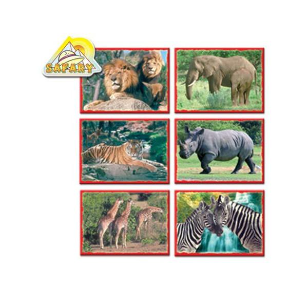 Skladacie obrázkové kocky 12 ks afrika