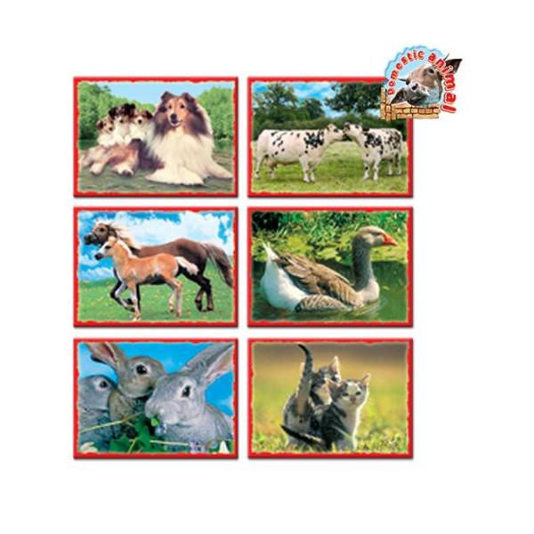 Skladacie obrázkové kocky 12 ks domáce zvieratká