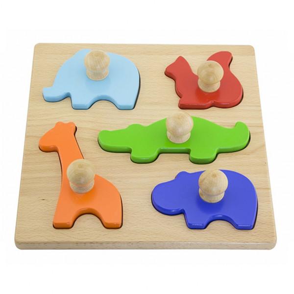 Detské vkladacie puzzle pečiatky Viga Zvierata
