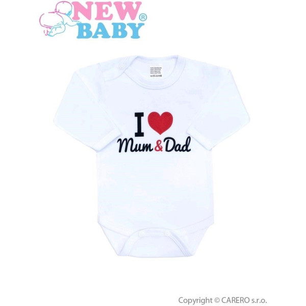 Body s potlačou New Baby I Love Mum and Dad
