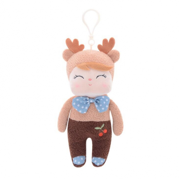 Mini handrová bábika Metoo s uškami a klipom, Koloušek, 19cm