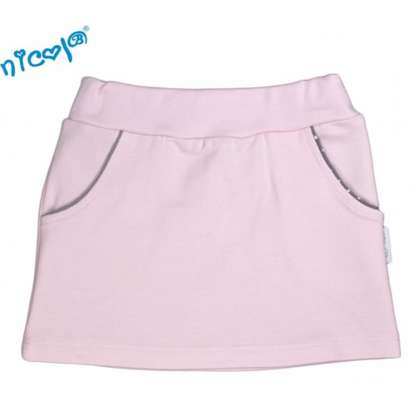 Dojčenská sukne Nicol, Paula - růžová