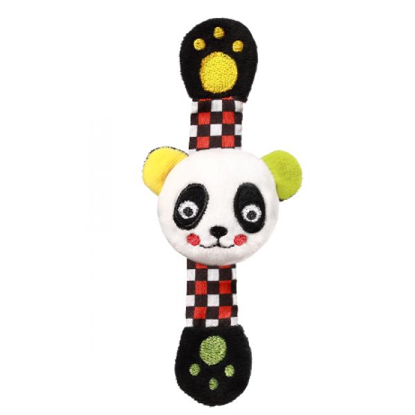 BabyOno Plyšová hrkálka na ruku Panda Archie, 16 cm