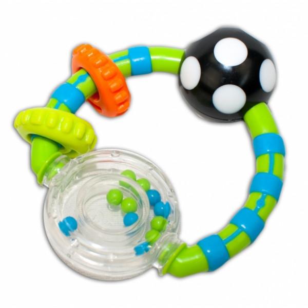 Hrkálka  Canpol Babies s krúžkami - zelené