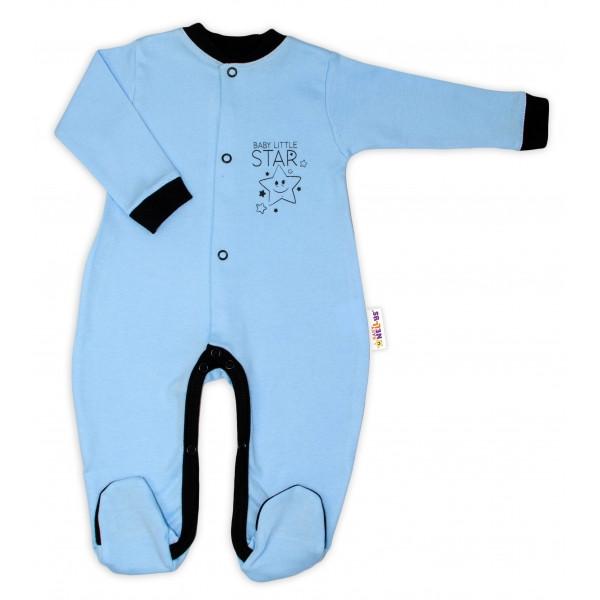 Baby Nellys Bavlnený overal Baby Little Star - modrý