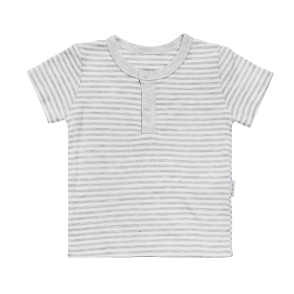 Bavlnené Polo tričko Mamatti Gentleman krátky rukáv - sivé