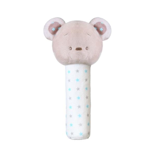 BabyOno Plyšová pískacia hračka Bear Tony, 17 cm