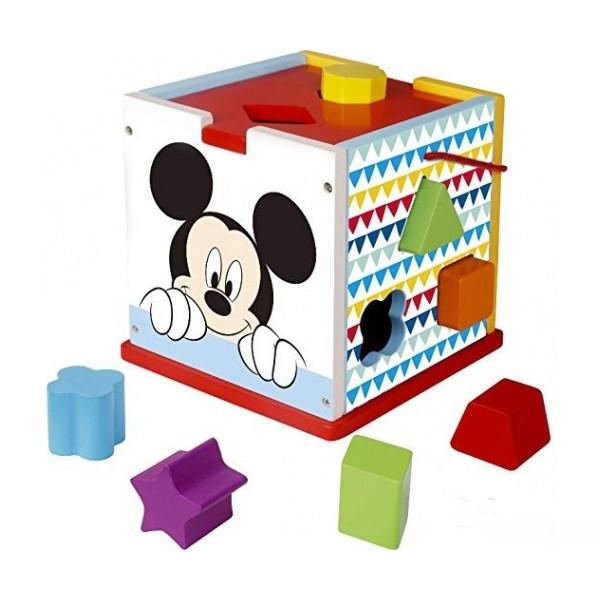 Drevená edukačná kocka Disney vkladacie - Mickey Mouse