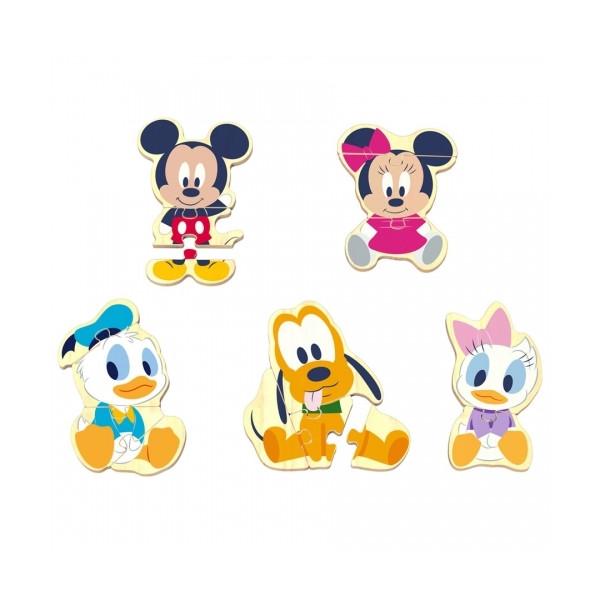 Drevené Disney puzzle Mickey a priatelia