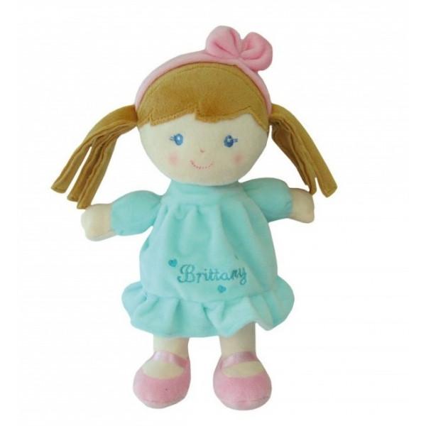 Smily Play, Handrová bábika Brittany se sv. hnědými vláskami, 25 cm