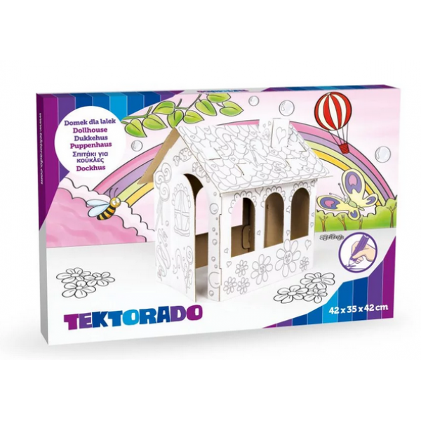 Tektorado Domček k vyfarbenie pre bábiky
