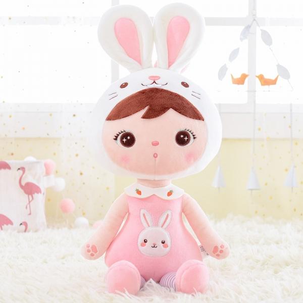 Handrová bábika Metoo Zajačik  - růžová