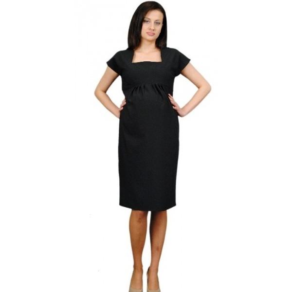 Be MaaMaa Tehotenské šaty ELA - čierna