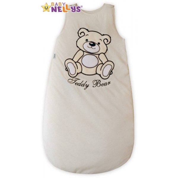 Spací vak Medvedík Teddy Baby Nellys - smotanový / ecru vel. 0+