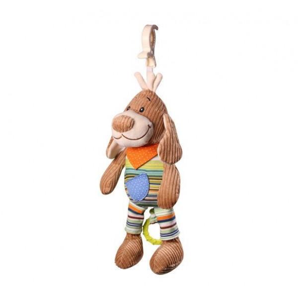 BabyOno Edukačná plyšová hračka Baby Ono s hracím strojčekom - Psíčatko