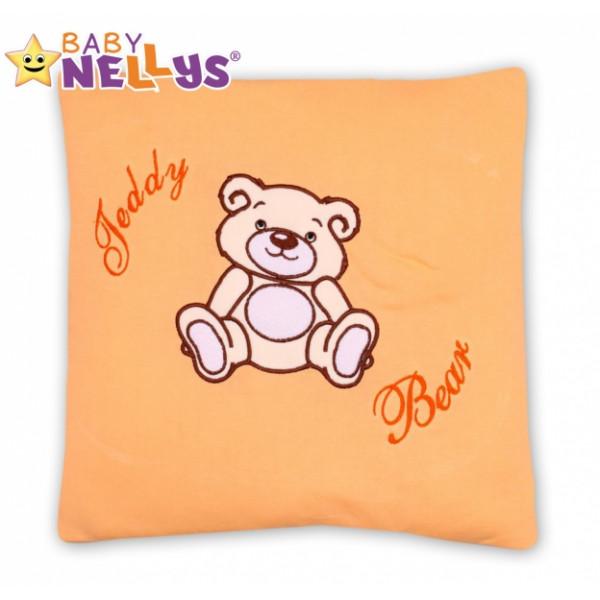 Baby Nellys Vankúšik 40x40 Teddy Bear - broskyňový
