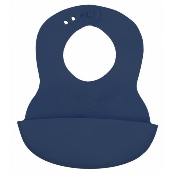 BabyOno Podbradník silikónový - modrý