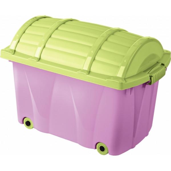 Keeeper Plastový box na kolieskach - 42l - fialový