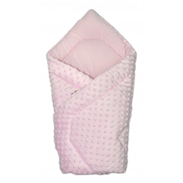 Baby Nellys Luxusná zavinovačka Minky Baby - ružová