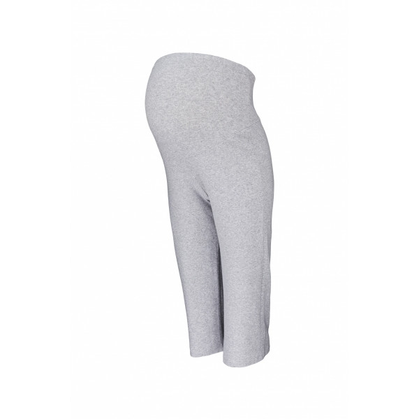 Be MaaMaa Tehotenské 3/4 tepláky s elastickým pásom - šedé