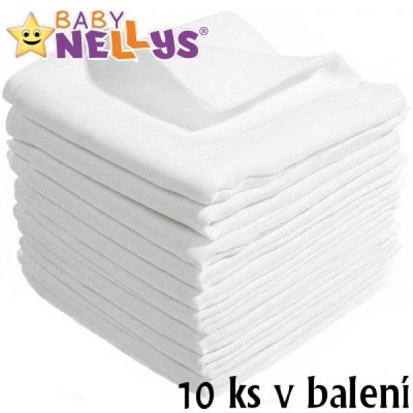 Kvalitné bavlnené plienky Baby Nellys - TETRA BASIC 80x80cm, 10 ks v bal., K19