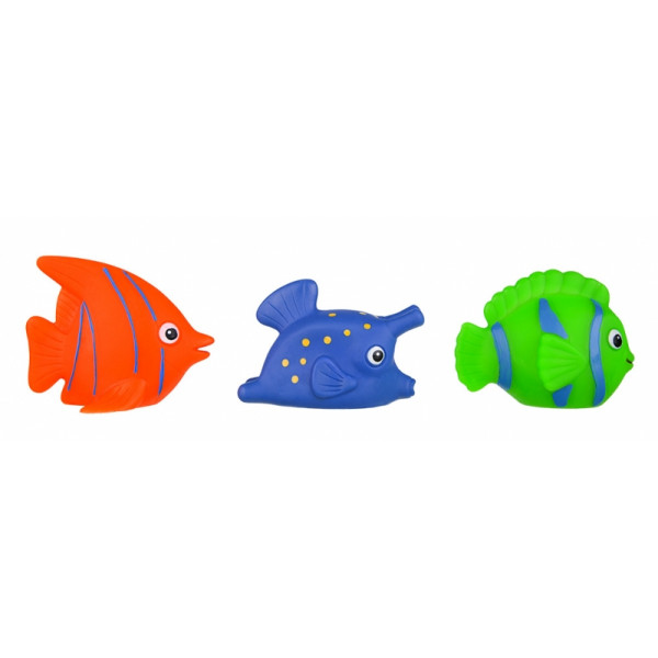 Hencz Toys Gumové zvieratka do vody - rybky, 3ks v balení