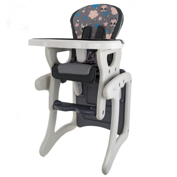 Euro Baby Jedálenský stolček 2v1 - Veverička v šědé, K19