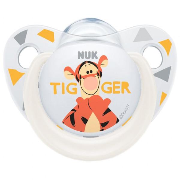 Dojčenský cumlík Trendline NUK Disney Tigger 6-18m biely