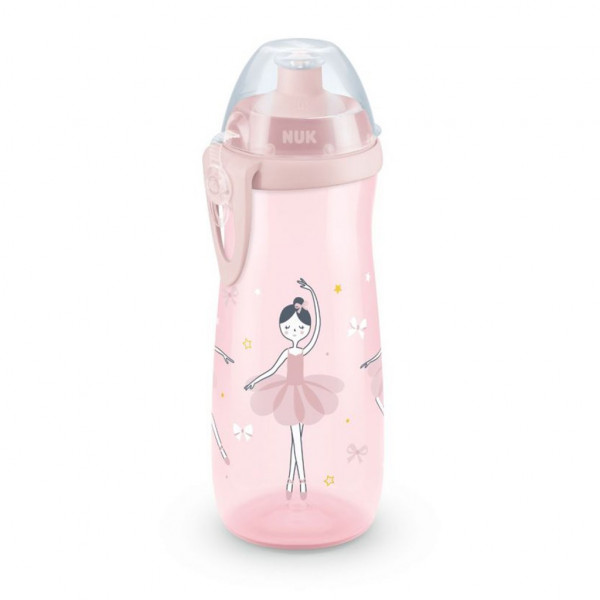 Detská fľaša NUK Sports Cup 450 ml ružová