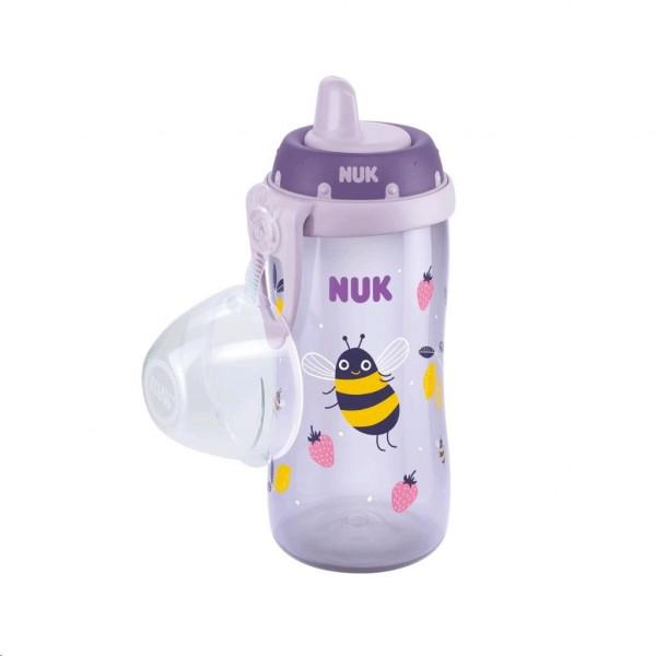 Detská fľaša NUK Kiddy Cup 300 ml fialová