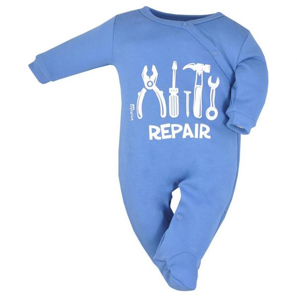 Dojčenský bavlnený overal Koala Repair blue