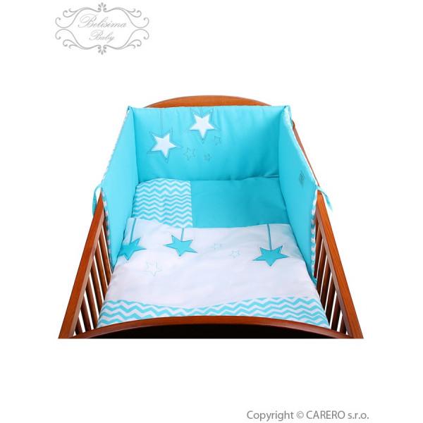 2-dielne posteľné obliečky Belisima Hviezdička 90/120 tyrkysové
