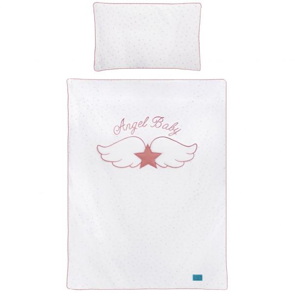 3-dielne posteľné obliečky Belisima Angel Baby 100/135  ružové