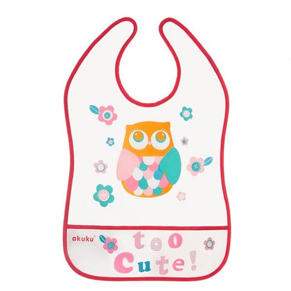 Detský podbradník s vreckom Akuku Owl