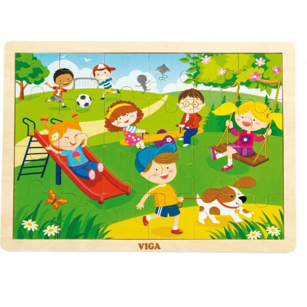 Detské drevené puzzle Viga Jar