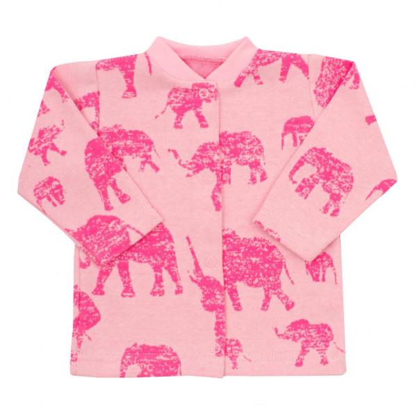 Dojčenský kabátik Baby Service Slony ružový