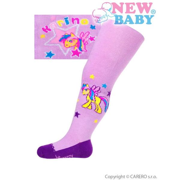 Bavlnené pančucháčky New Baby fialové karino