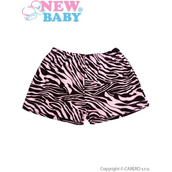 Detské kraťasy New Baby Zebra ružové