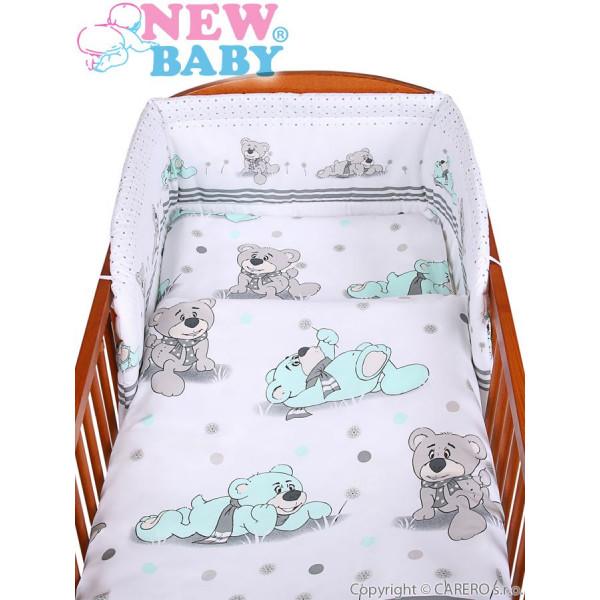 2-dielne posteľné obliečky New Baby 90/120 cm sivý medvedík
