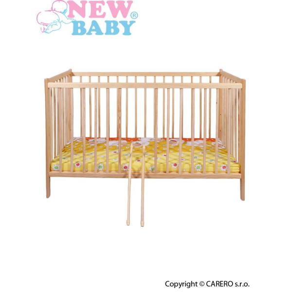Detská borovicová postieľka New Baby Dominic - prírodná